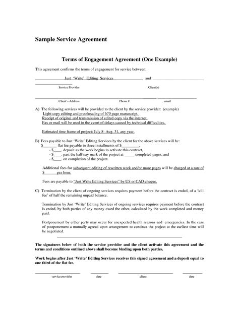 basic service agreement template basic service contract portablegasgrillweber