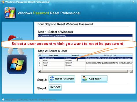 reset admin password on vista windows vista password recovery the best way to reset