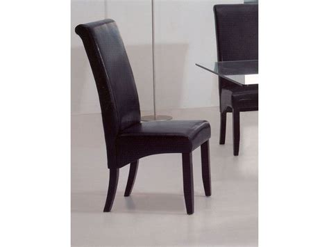 Leather Dining Room Chair | bossanova contemporary leather dining room chair aurora