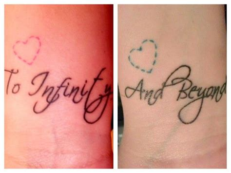 infinity and beyond couple tattoos 11 best images about tattoos on justin