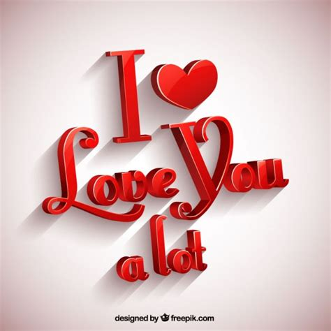 imagenes l love you i love you a lot greeting card vector free download