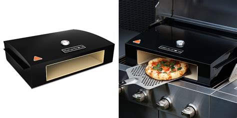 bakerstone pizza oven prepares pizza at home in a jiffy