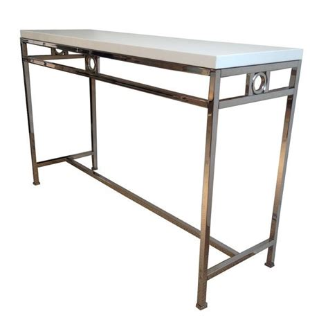 Sofa Table With Chairs Metal Console Tables Carew Jones