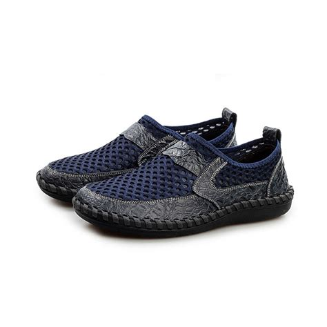 driving boat shoe breathable men driving casual boat shoes leather flats