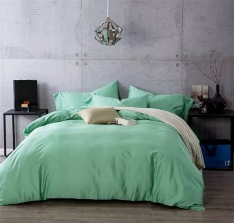 mint green coverlet mint green solid color bedding sets egyptian cotton king