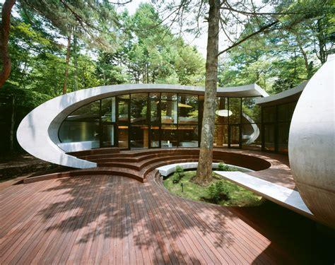 concrete shell villa   forest idesignarch