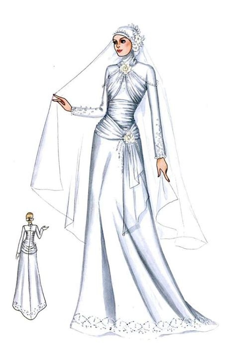 sketch design gaun 105 best images about wedding dress n kebaya on pinterest