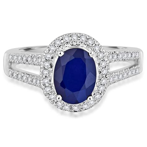 1 33ct Oval Cut Blue Lab Sapphire 14k White Gold Antique Style Pendant Ebay 1 8 Ct Blue Oval Sapphire Cocktail Ring 14k White Gold Ebay