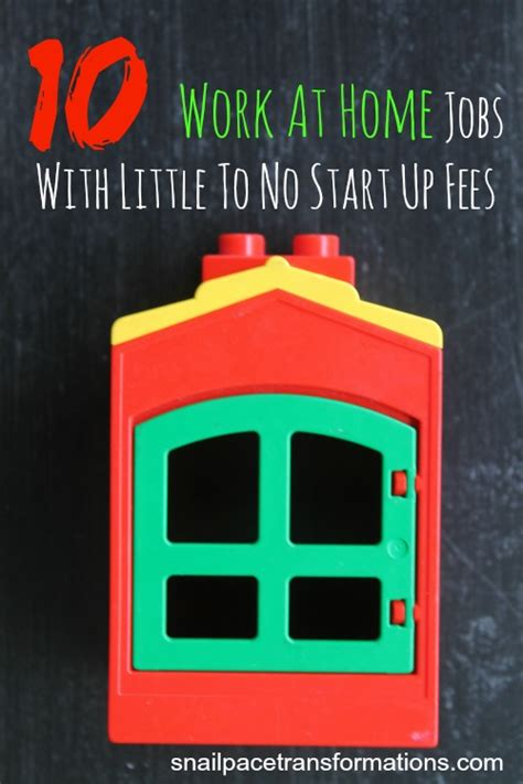 10 work at home with to no start up fees