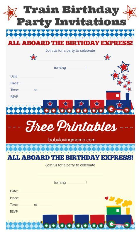 free printable train birthday decorations train birthday party invitations free printables