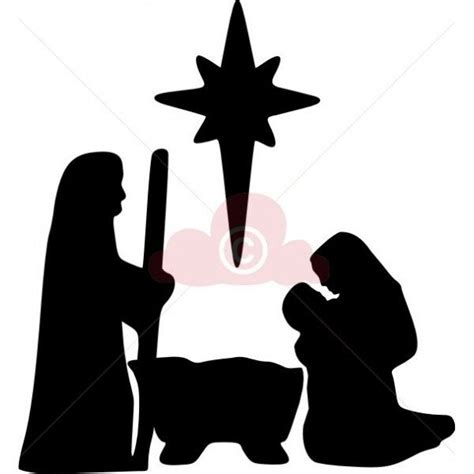 easy nativity silhouette for children use shelter