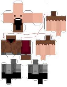 paper crafts template minecraft skins