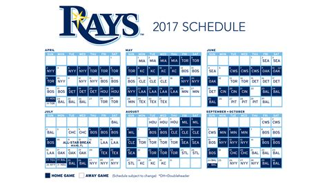 2017 nfl schedule release 2017 ta bay rays schedule released fox sports