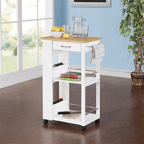 White Kitchen Island Cart by Mainstays Kitchen Island Cart