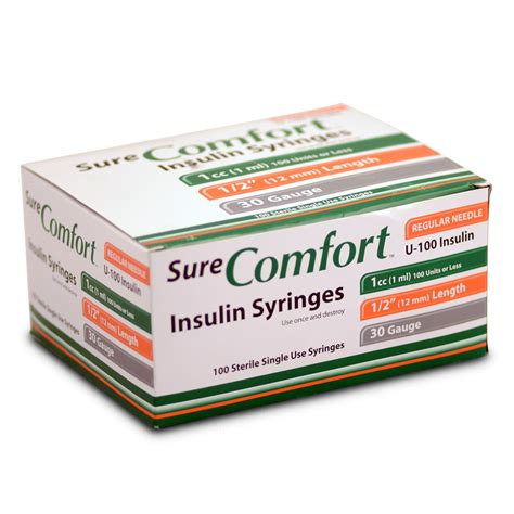 Sure Comfort Syringes by Surecomfort Insulin Syringes Healthwarehouse