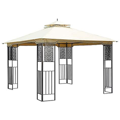leaf pattern gazebo no tools amy gazebo bed bath beyond