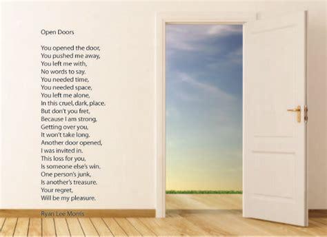Open The Door Poem by Open Doors Poem By Morris Poem
