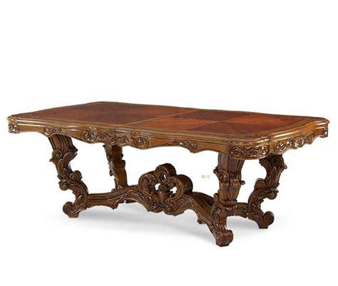 Michael Amini Palais Royale Rectangle Rococo Cognac Dining Rococo Dining Table