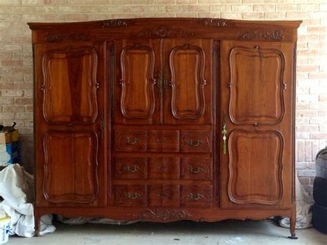 Antique Armoires Wardrobes - provincial antique styled armoire wardrobe