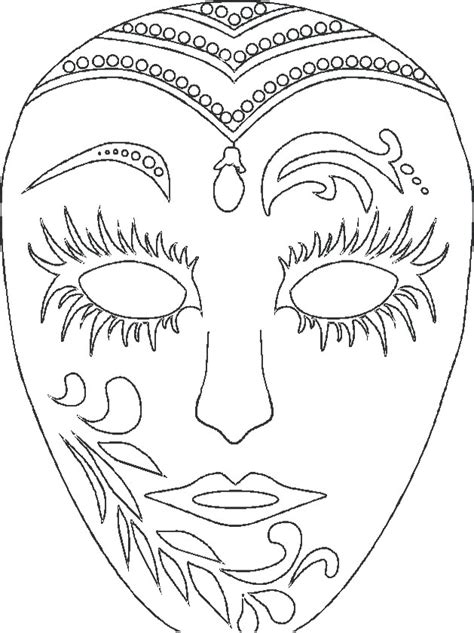 mardi gras masks coloring pages az coloring pages