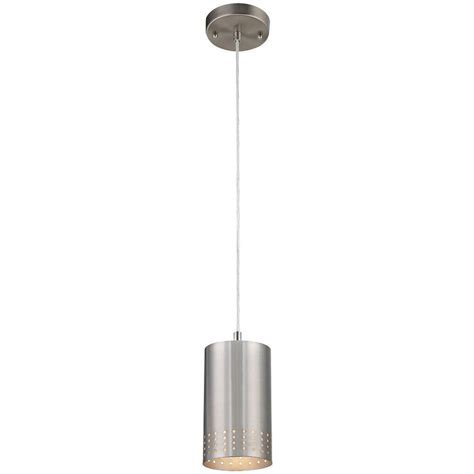 brushed nickel outdoor pendant light westinghouse 1 light brushed nickel adjustable mini
