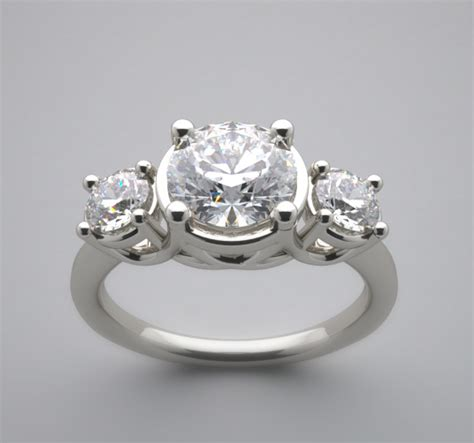 different three engagement ring setting