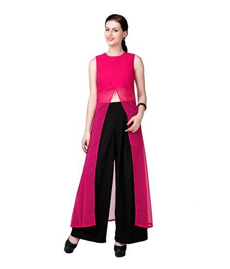 Yasmin Top 2in1 Pnk eavan pink poly georgette tops buy eavan pink poly georgette tops at best prices in