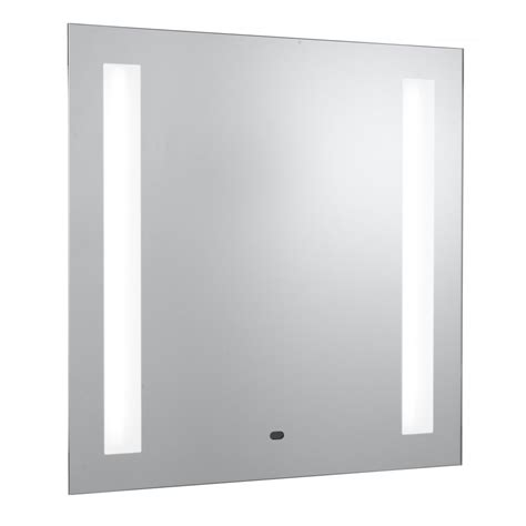 wall mounted bathroom mirror searchlight electric 8810 glass illuminated bathroom