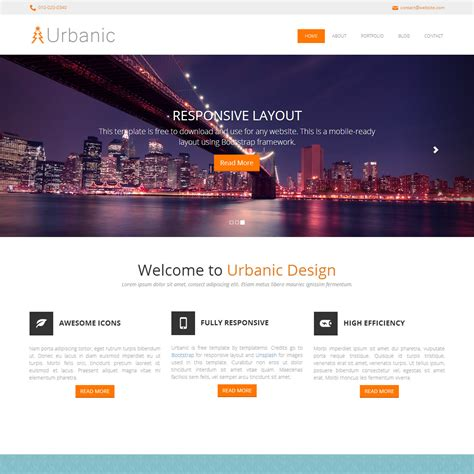 layout website html5 template 395 urbanic