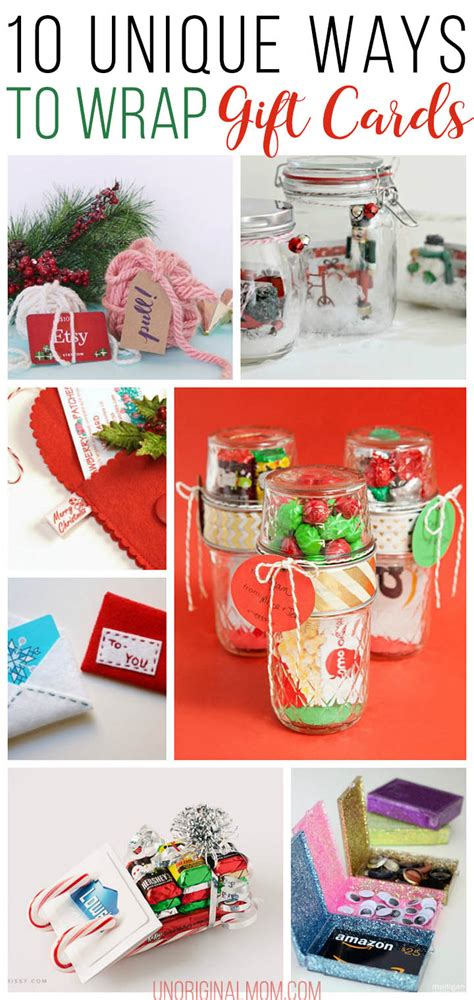 Fun Ways To Wrap A Gift Card - 10 unique gift card wrapping ideas unoriginal mom