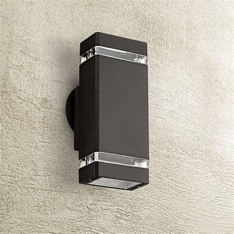 possini outdoor wall light possini rectangular bronze up outdoor wall light