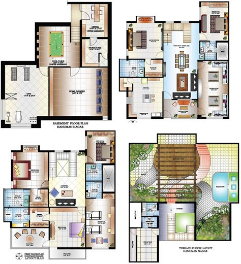 bungalow blueprints indian bungalow plans images