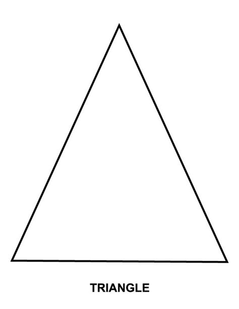 triangle coloring page download free triangle coloring