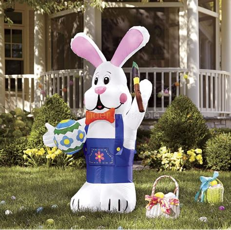 300cm 10ft inflatable easter bunny with brush for easter