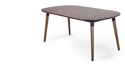 Walnut Extending Dining Table Edelweiss Extending Dining Table Walnut And Black Made