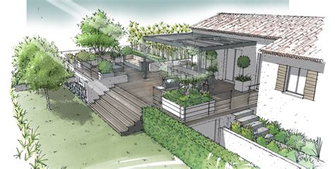 jardin sur terrasse semi enterr 233 e lamanon 13