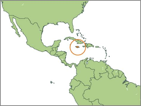 map of america showing jamaica jamaica wrm in