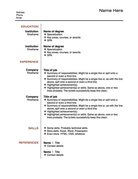 Best Template For Resume by Exles Of Resumes 14 Reasons This Is A Recent