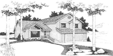 side split level house plans hillside home plans with basement sloping lot house plans