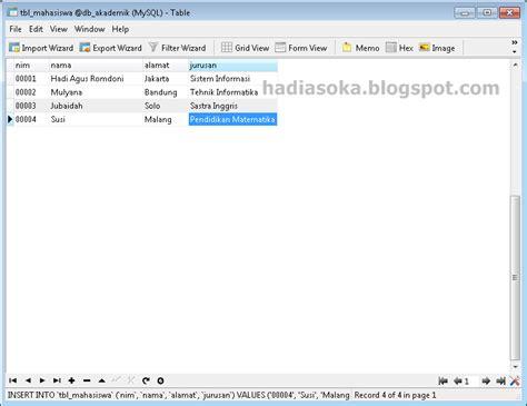 membuat database dengan excel dan mysql membuat database dan tabel di mysql dengan navicat