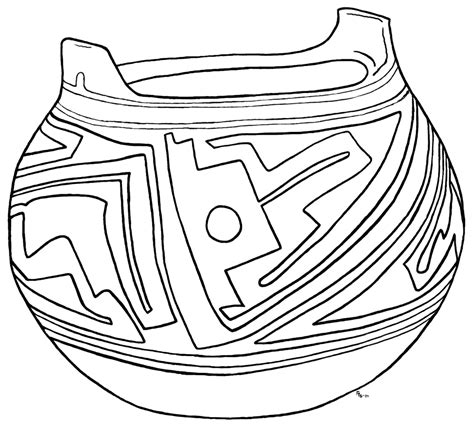 Pottery Coloring Pages free coloring pages of pueblo pottery