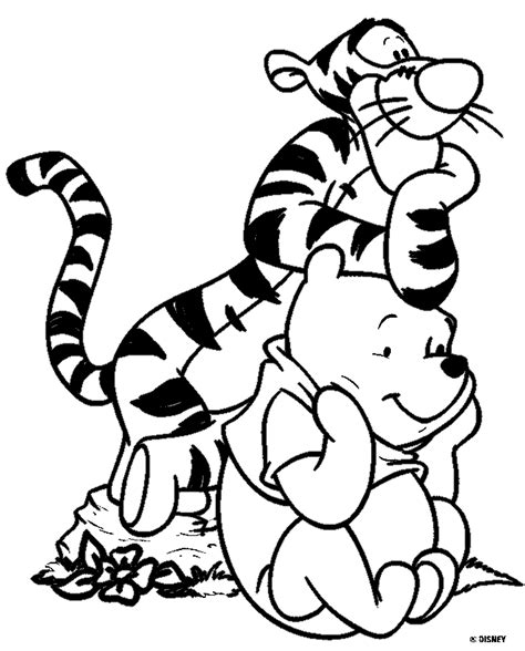 free cute baby winnie the pooh coloring pages