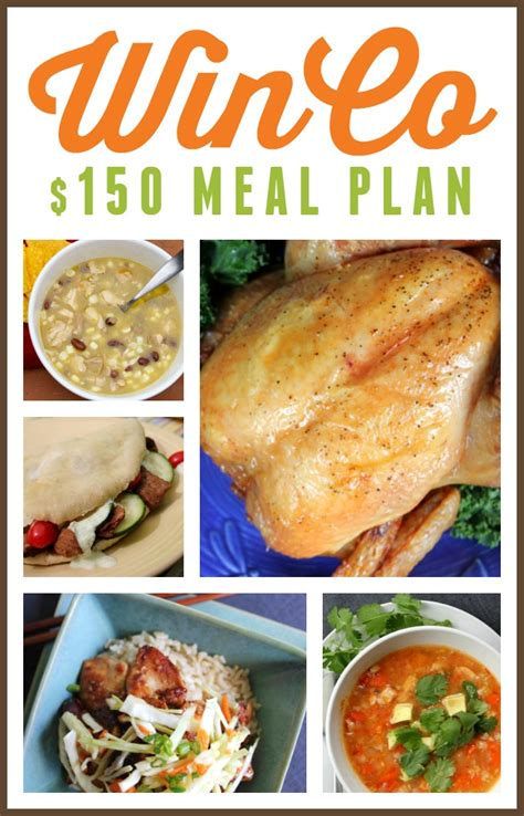 printable easy dinner recipes winco meal plan 15 dinners for under 150 printable