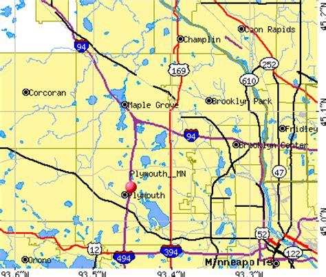 map of plymouth minnesota western minneapolis suburbs map