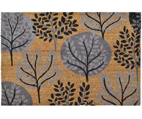 Large Grey Doormat Autumn Trees Grey Large Doormat