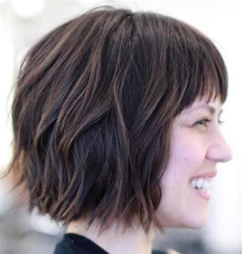 choppy bob haircut with fringe 60 classy short haircuts and hairstyles for thick hair