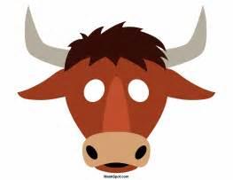 bull mask template printable bull mask