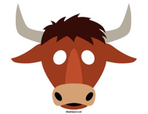 Bull Mask Template animal masks