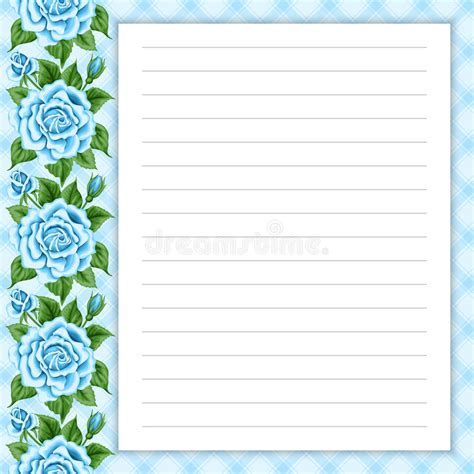 diary card template retro page for notes stock vector image 63091549