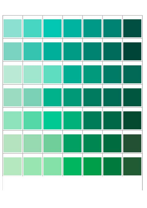 Pantone Matching System Color Chart Free Download Green Paint Color Palette